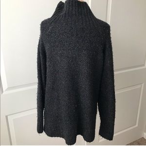 H&M Mock Neck Charcoal Sweater